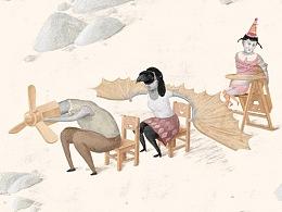 你得找个有女老板的公司【鸟(diǎo)人插画04】