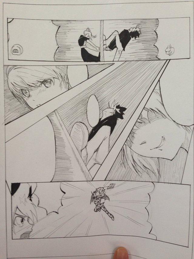 原创漫画手绘散稿|动漫|单幅漫画|拿剑的小鸟 - 原创