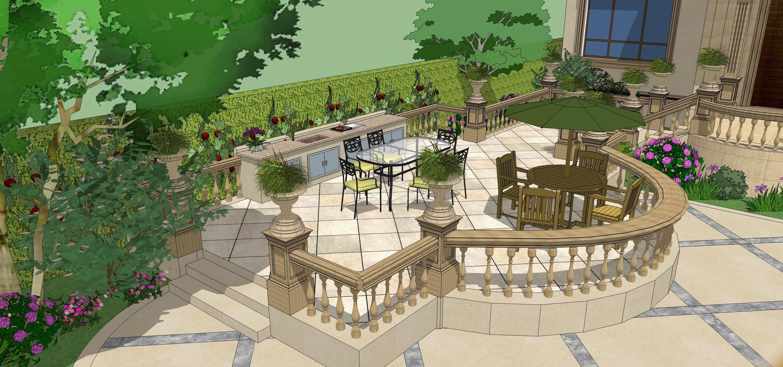 碧海方舟别墅庭院设计图片