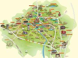 三乡镇-手绘地图