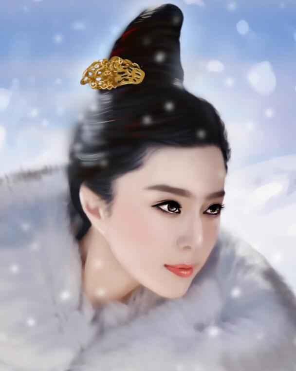 手绘范冰冰——杨贵妃