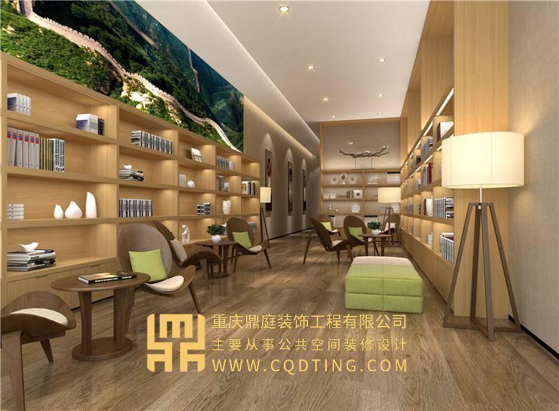 重庆书店装修设计/书店设计规划/书店案例效果图图片