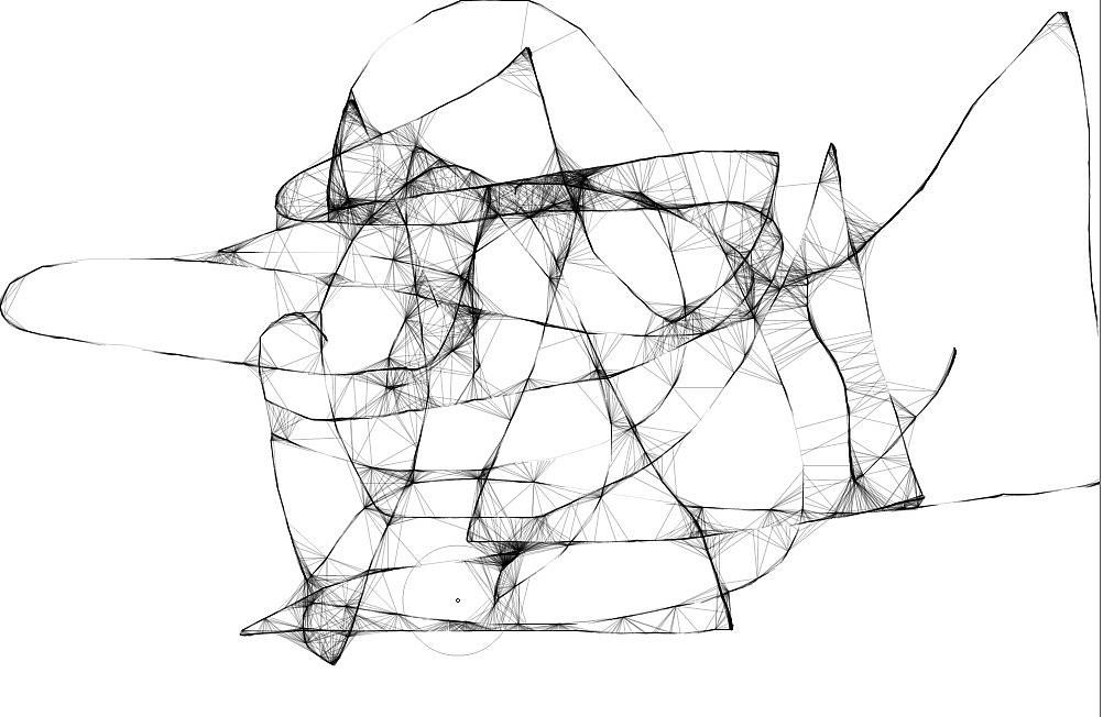 手绘简笔抽象花木