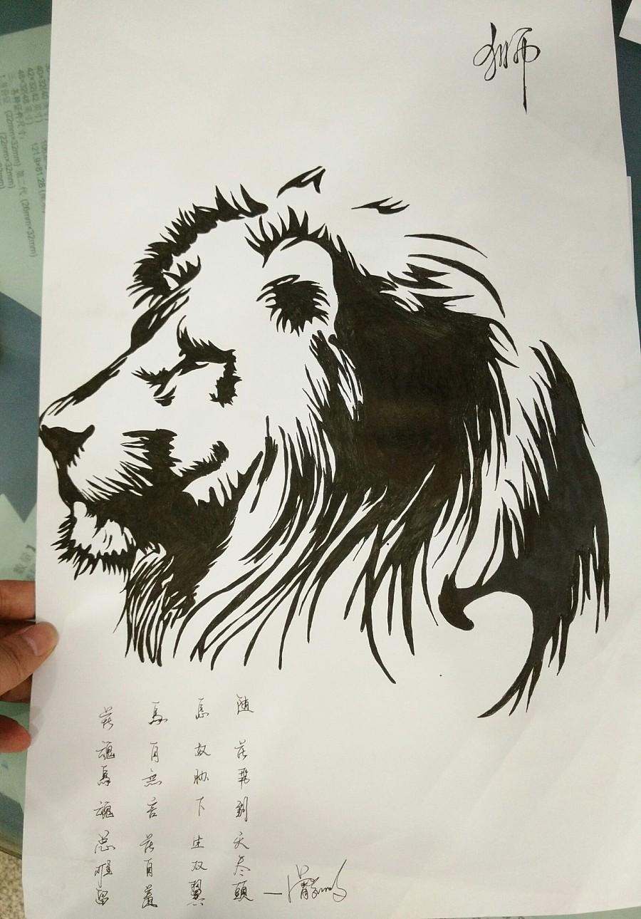 手绘-黑白画+插画