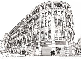 一家建筑公司的项目手绘图