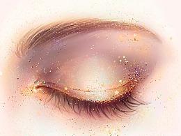 闪亮亮的星星眼妆
