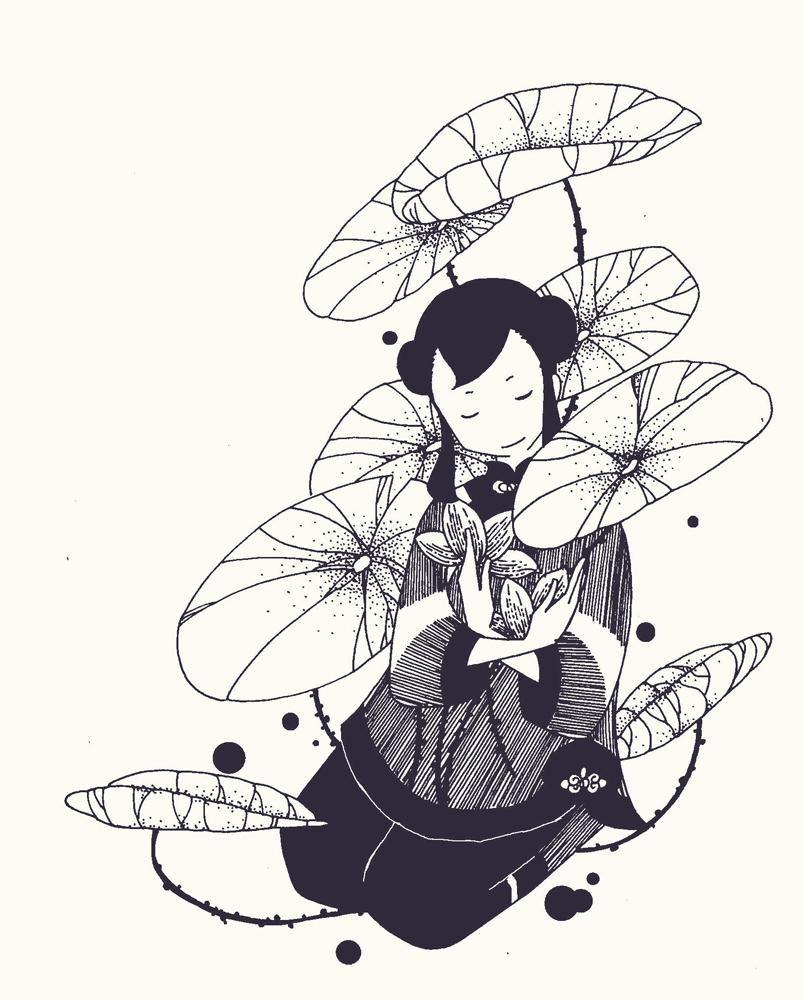 儿童黑白小插图2