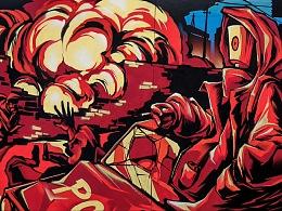 国内非知名涂鸦团队FRIDAYCREW 2017—2018涂鸦作品集