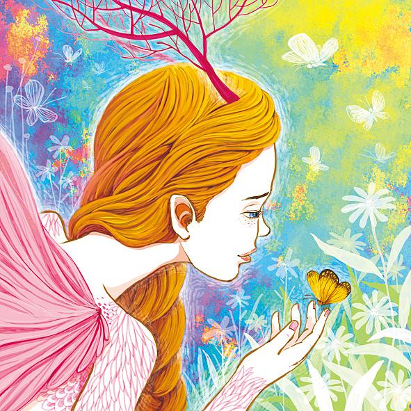森林公主系列插画 加一绘画步骤分解