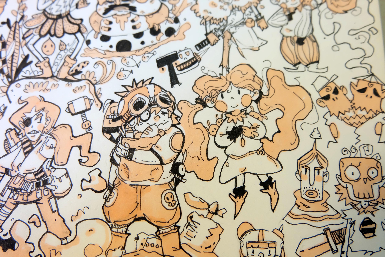 手绘练习 插画 插画习作 二苦菌 - 原创作品 - 站酷