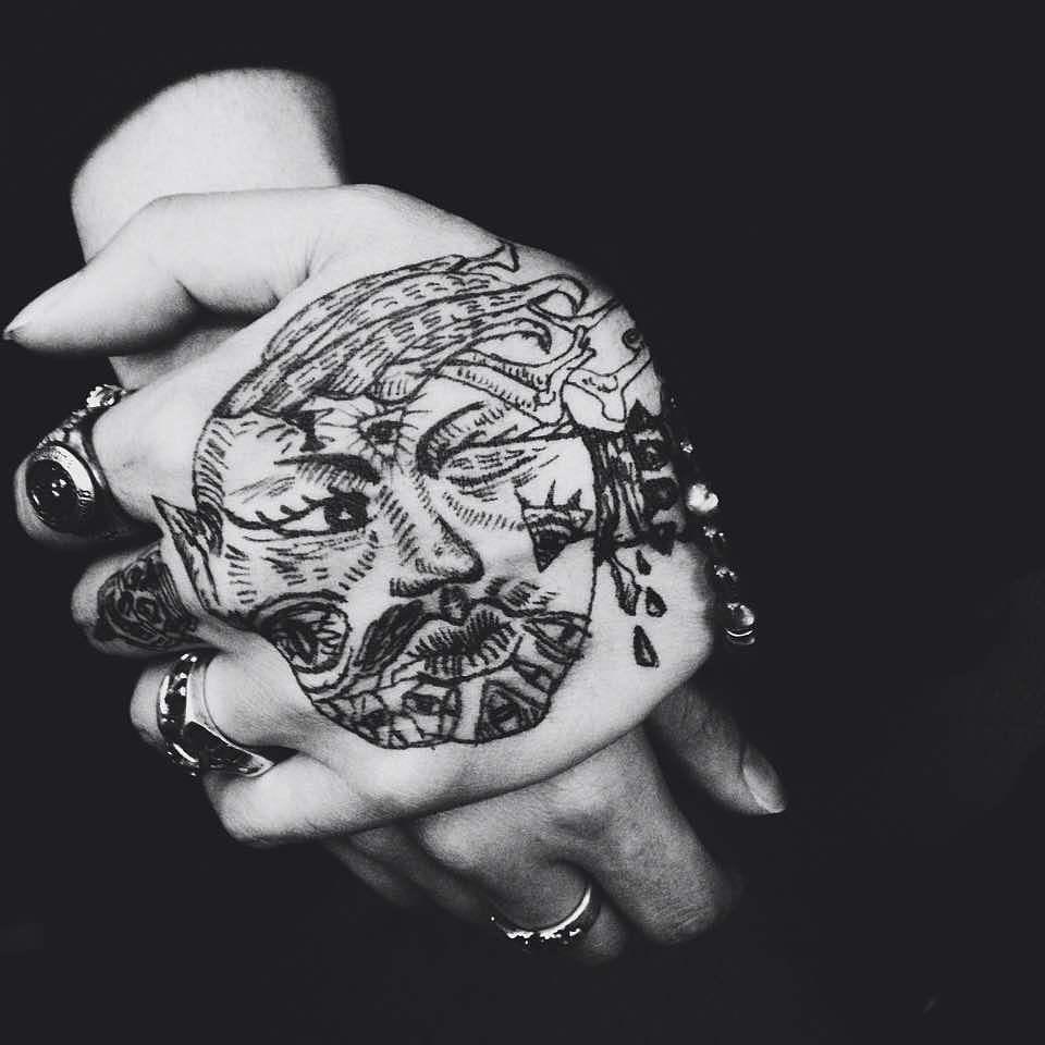 水笔手绘纹身,各种画着玩