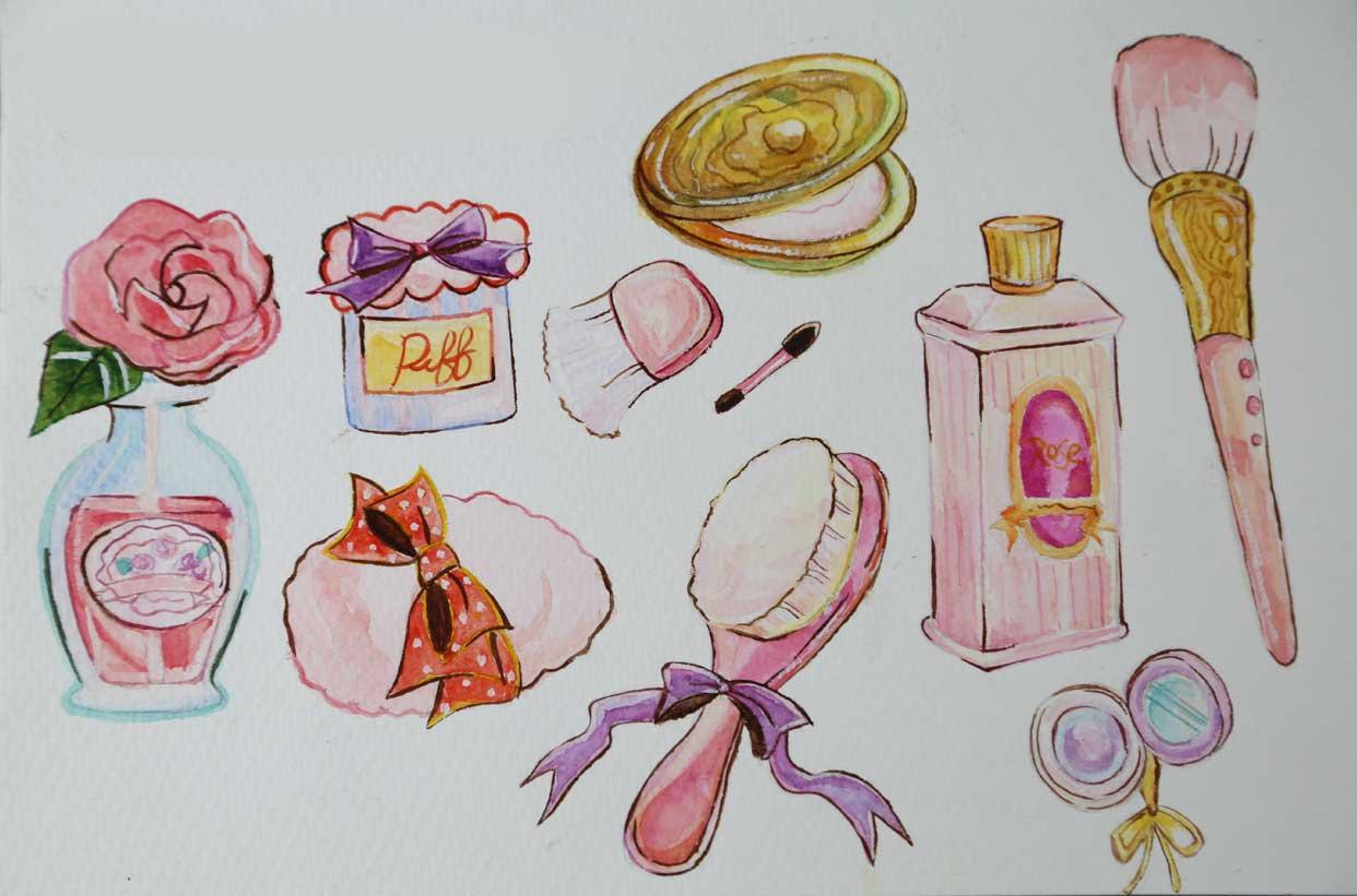 手绘 化妆品