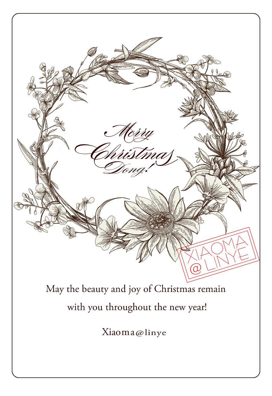 圣诞快乐 手绘贺卡~~|图案|平面|小马林野 - 原创设计