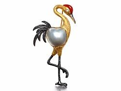 巴洛克珍珠/艺术异形珍珠《仙鹤》创作过程欣赏