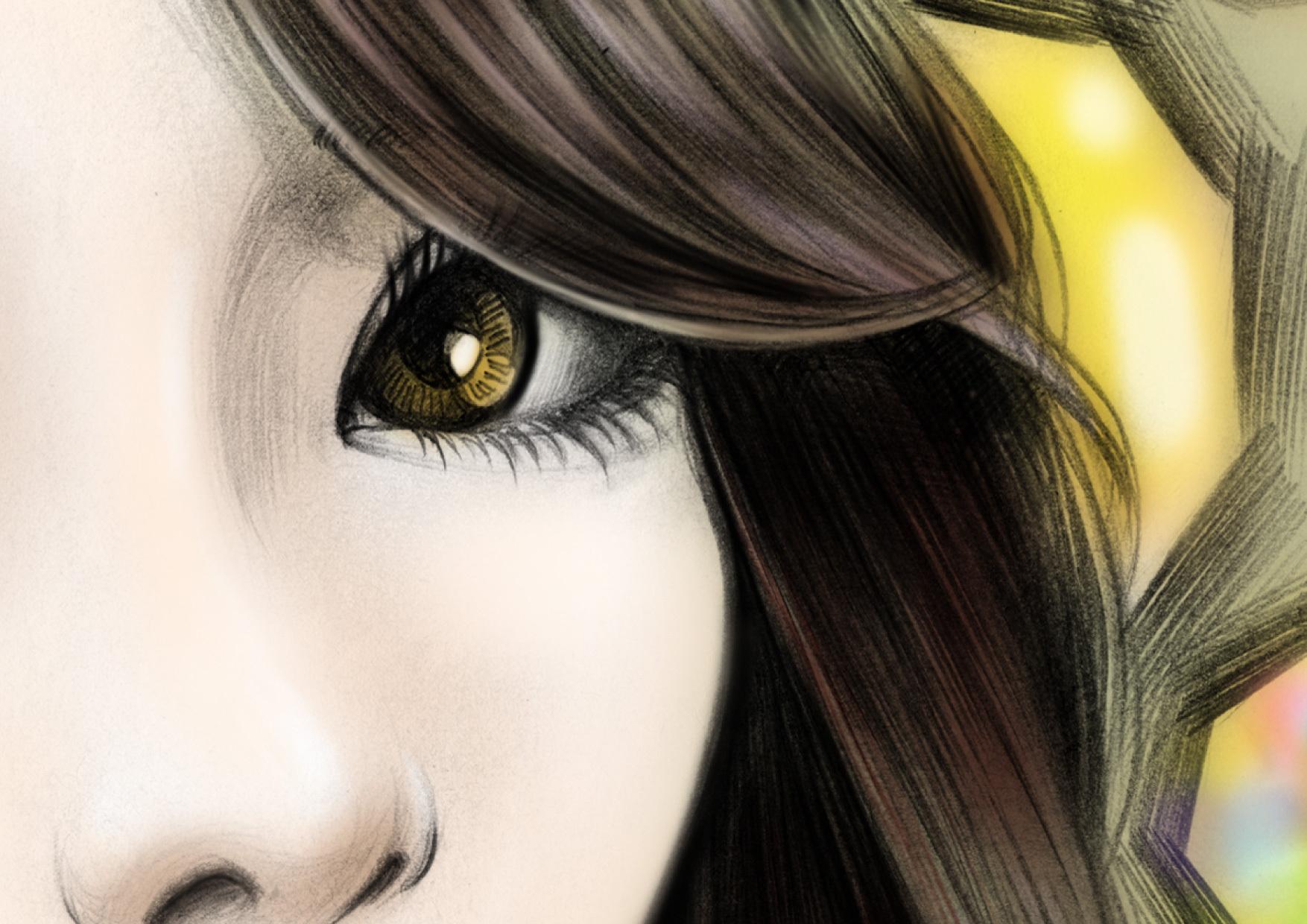 回眸---手绘女孩