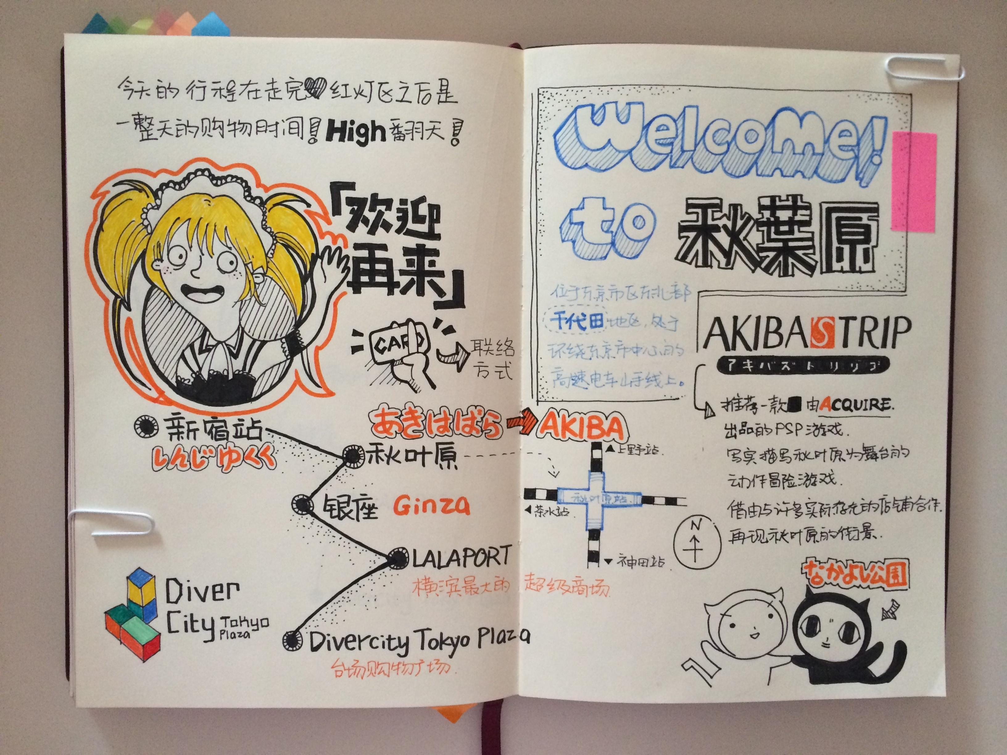 日本手绘旅行日记