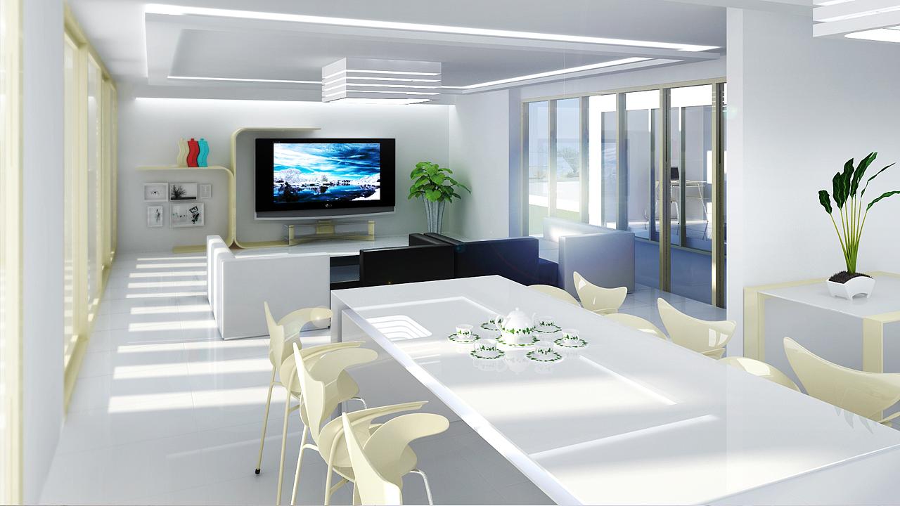 3d 效果图 室内 建筑
