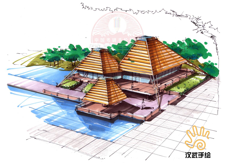 建筑手绘效果图