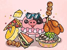 猪小蜜 — 一组手绘小品