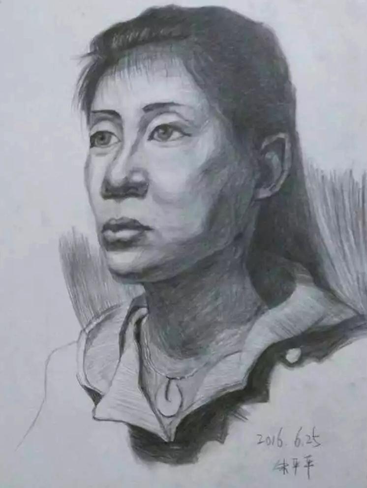 素描人头像|像素画|插画|疯狂