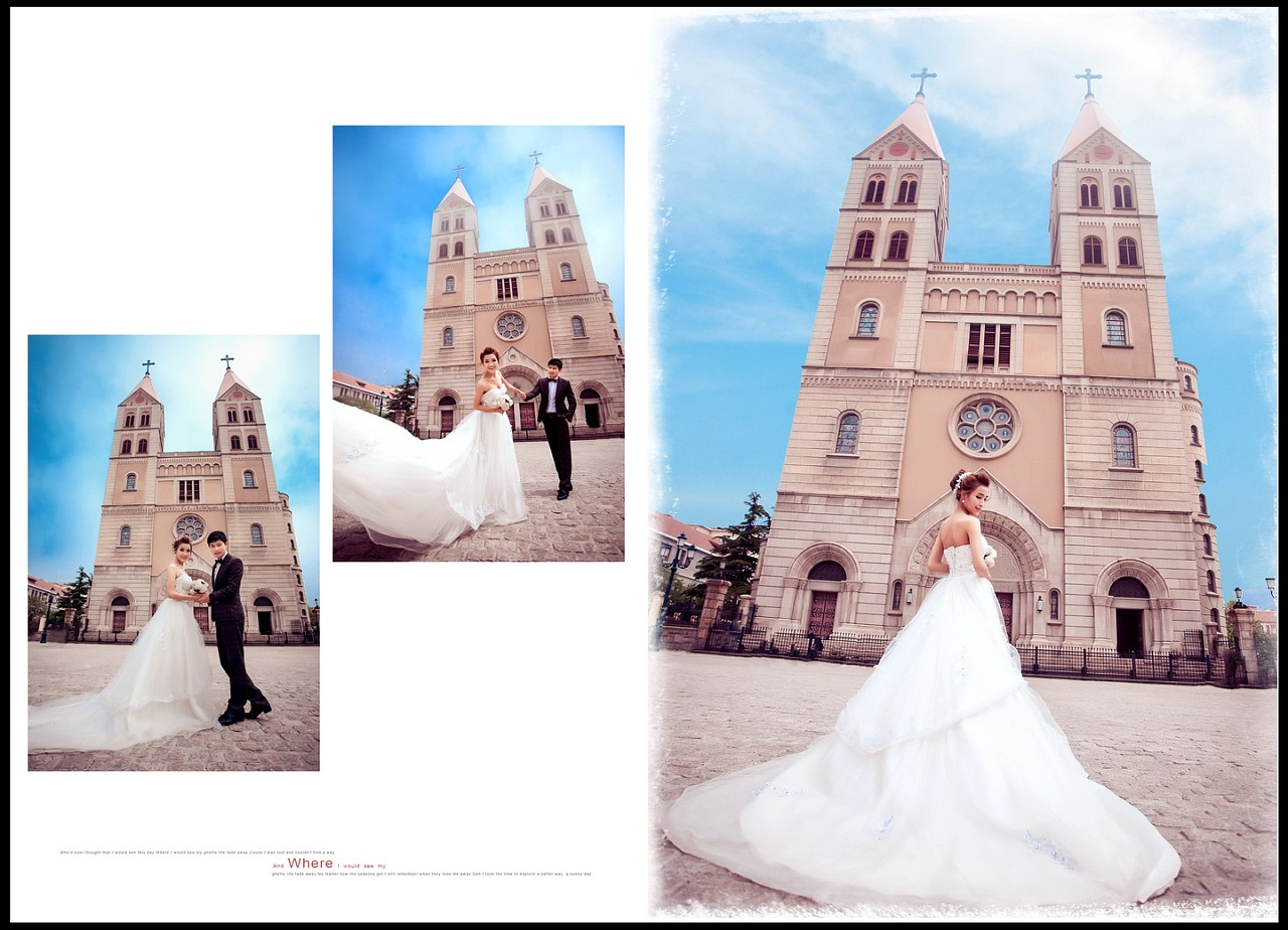 婚纱相册排版图片