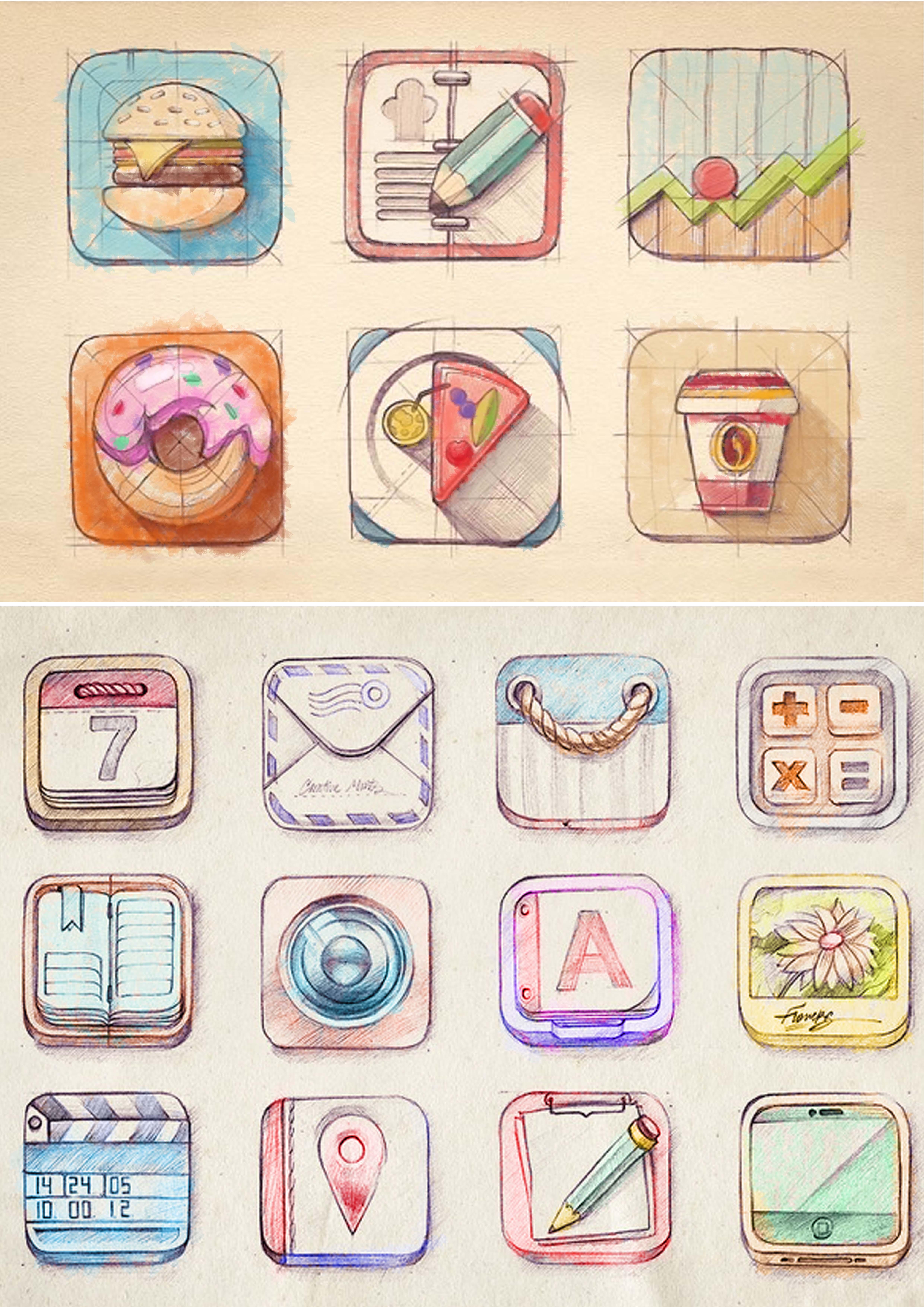 小清新手绘图标|ui|图标|weichaohong - 原创作品