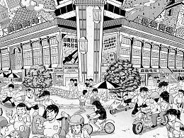 南宁味系列插画第十一章:碟