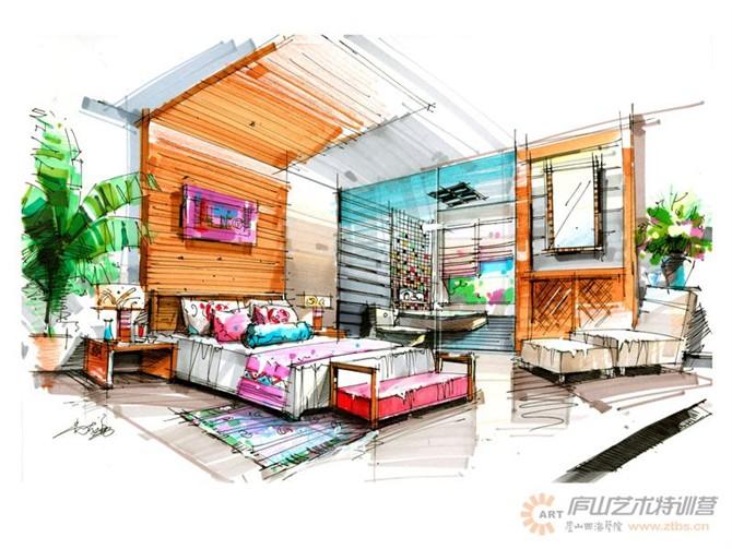 【庐山艺术特训营】尚院长手绘作品|室内设计|空间