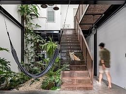 热带水泥工业风-自然系有氧挑高建筑