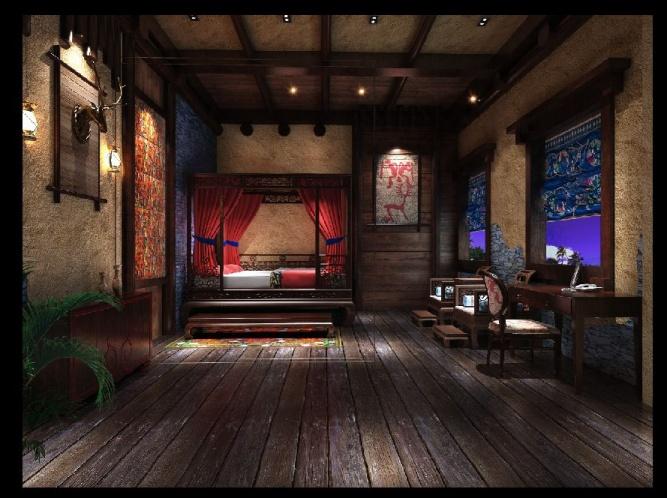 羌文化主题客栈|彭州主题民宿客栈装修设计案例|彭州