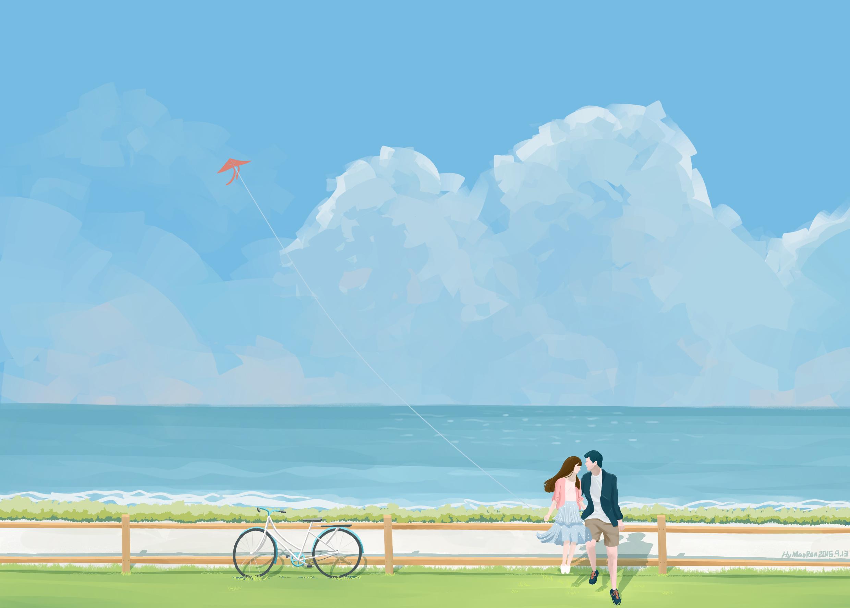 海边的情侣