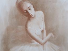棕色素描~芭蕾舞者
