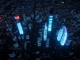 智慧城市新视角-可视化数据大屏