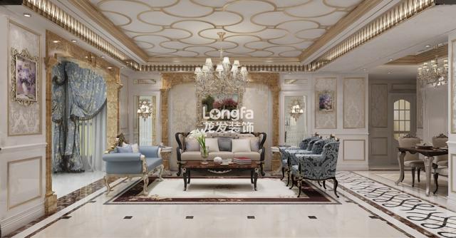 天山熙湖洋房170平米欧式新古典风格装修设计方案