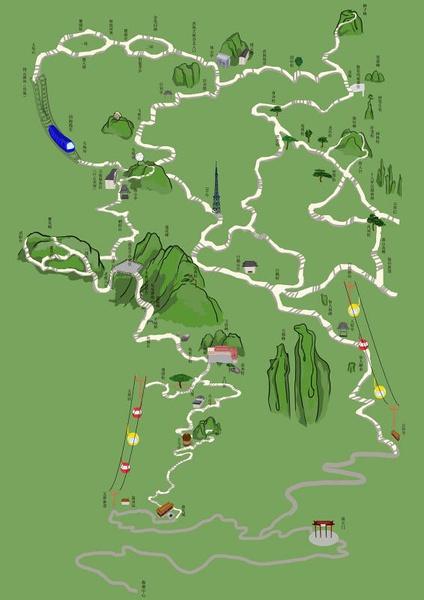 手绘地图|商业插画|插画|山丘丘