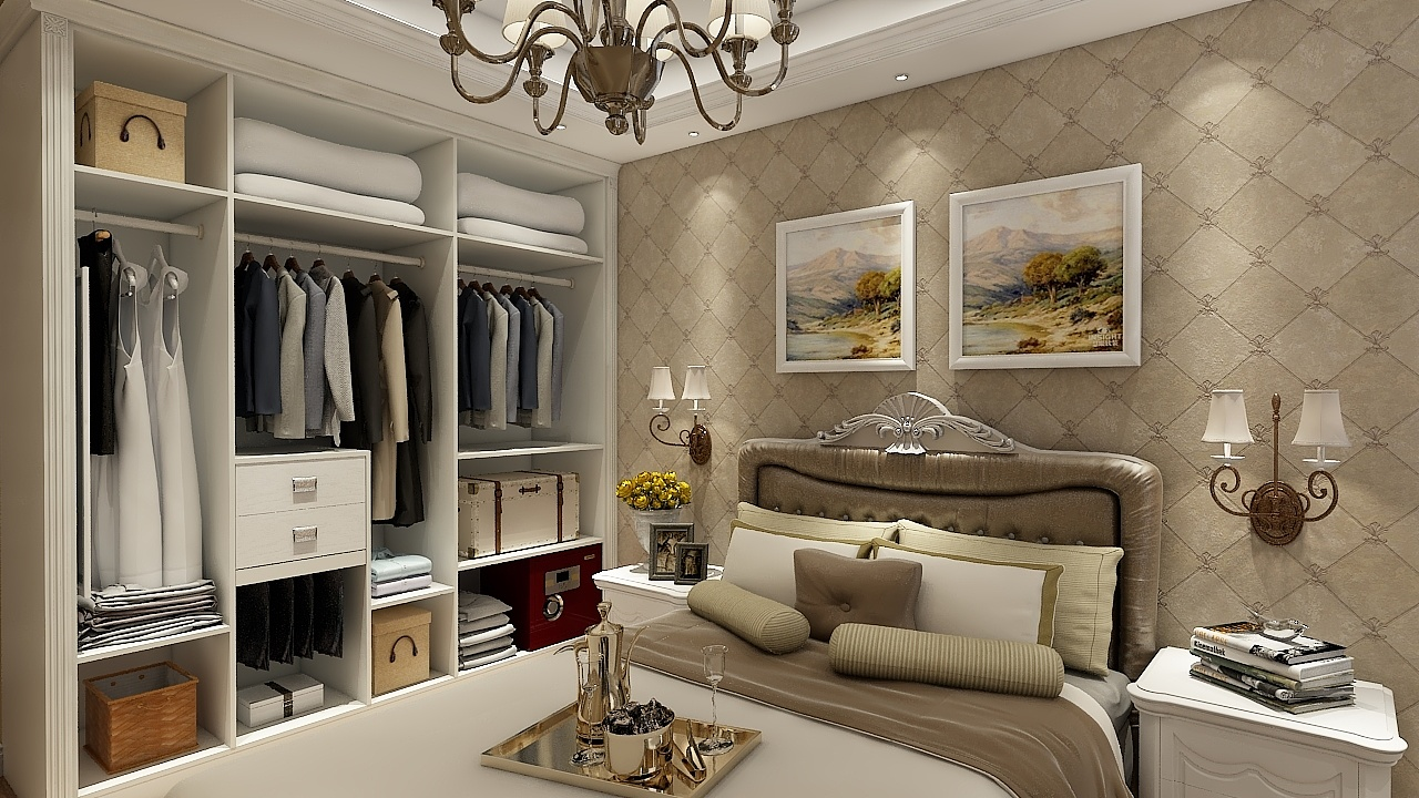 中户型白色欧式定制(异形定制鞋柜)图片