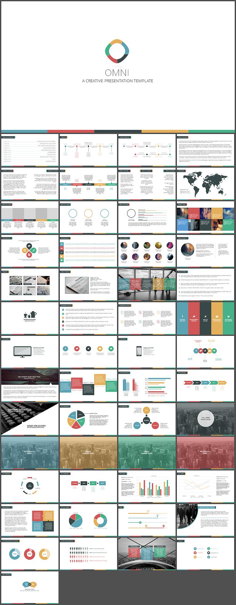 全方位创意简报商务通用计划总结汇报ppt模板图片