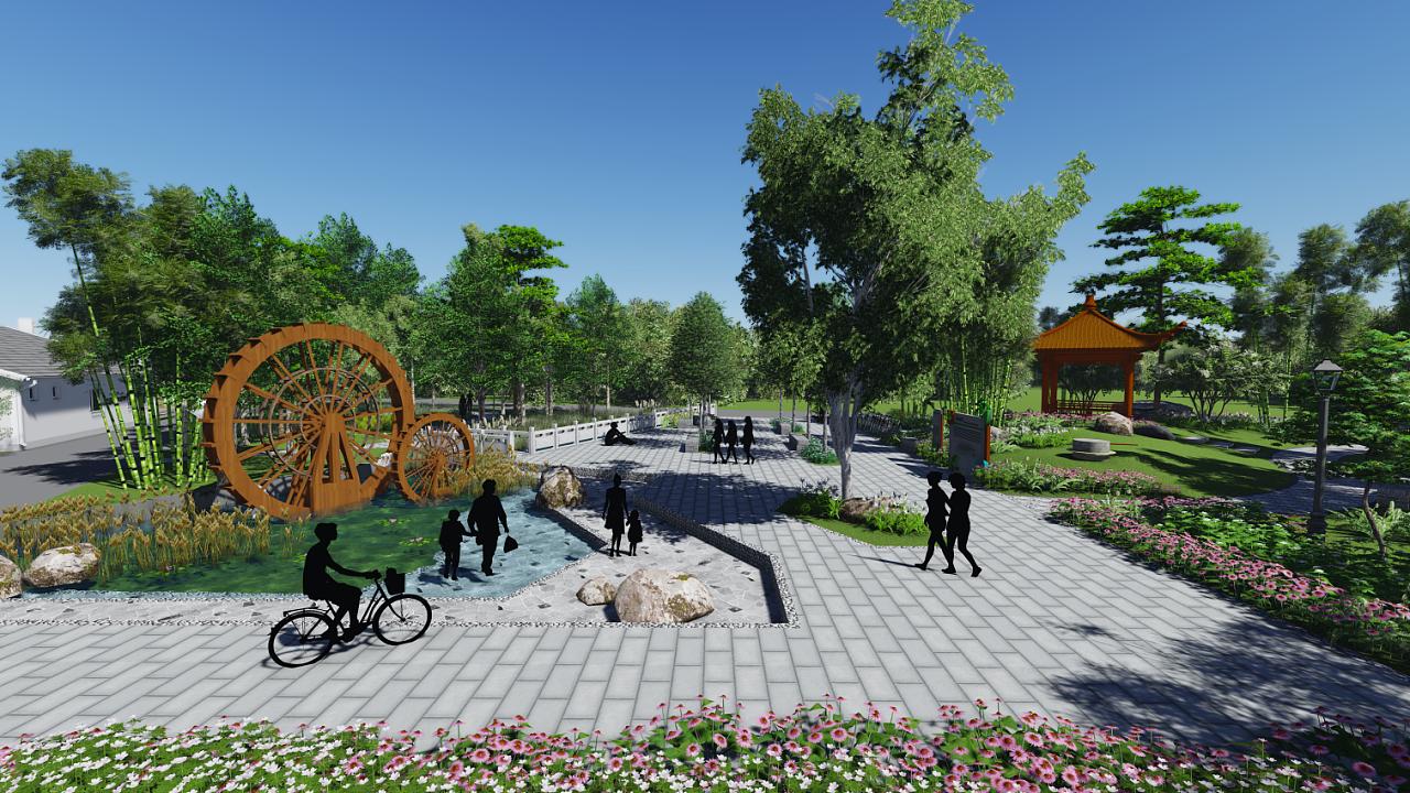 园林设计 效实图设计 河漕办 生态河漕 河漕整顿治水 批驳岸 步道图片