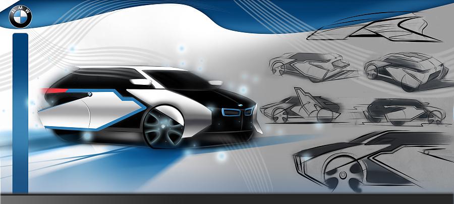 汽车设计手绘方案|交通工具|工业/产品|不乖雯 - 原创