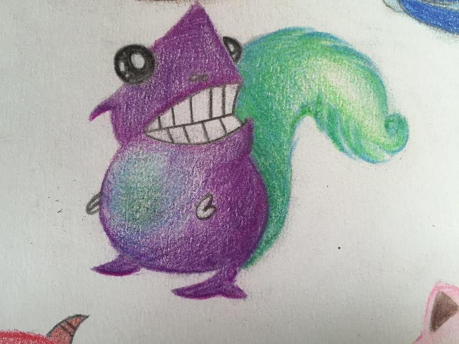 手绘卡通小怪兽