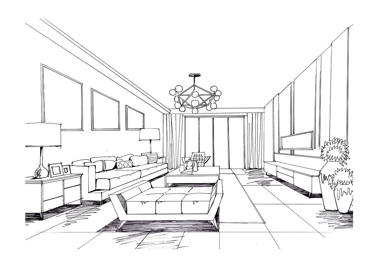 室内手绘|空间|室内设计|debbiezhang - 原创作品