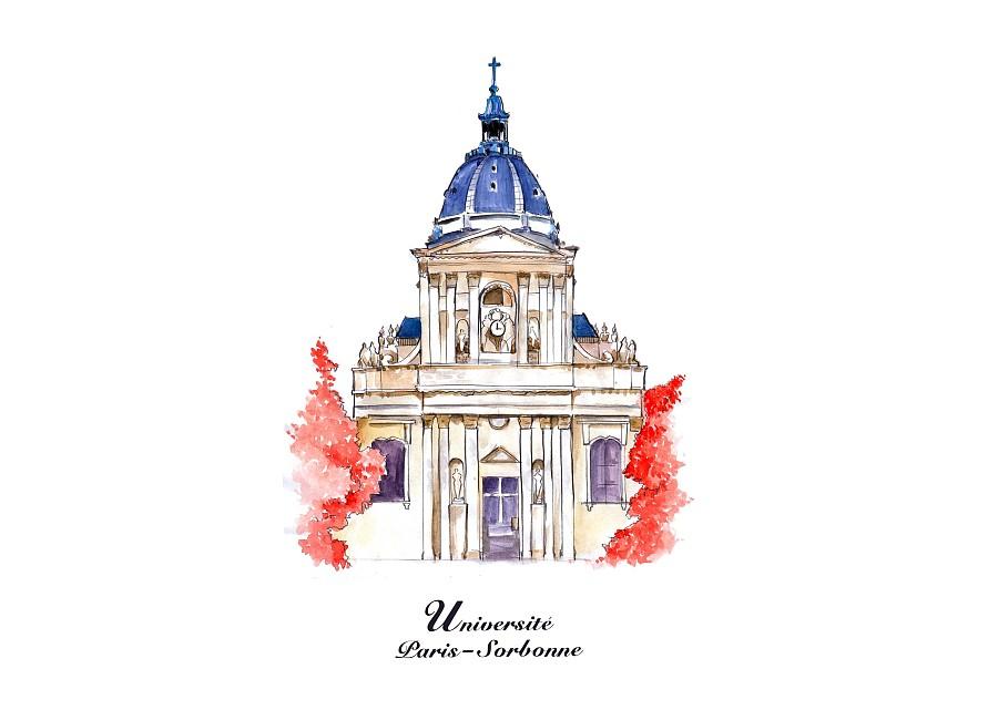 巴黎手绘地图|商业插画|插画|饭煮豪