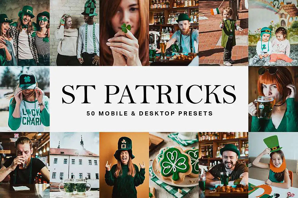【P251】抹茶绿电影胶片LR预设+LUT预设St Patricks Day Lightroom Presets LUTs
