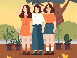五四青年节插画