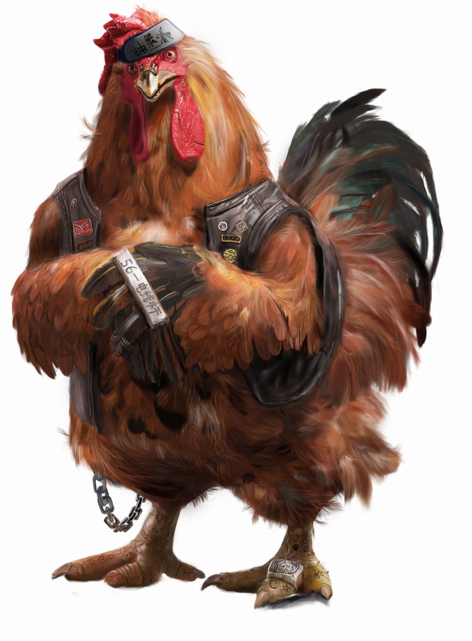 霸气战斗公鸡(手绘临摹)