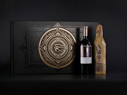澳大利亚法老传说干红葡萄酒 高端红酒品牌设计 酒标