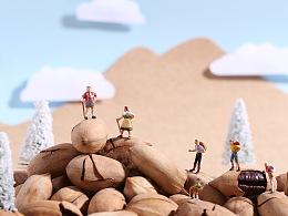 「坚果世界的微摄小人创意」小人国系列|上海魔摄视觉