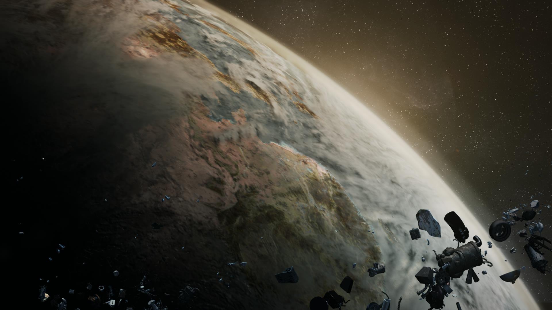 c4d太空环境&污染地球制作 动画短片《orbit》镜头