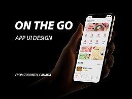 """""""On The Go""""App界面设计"""