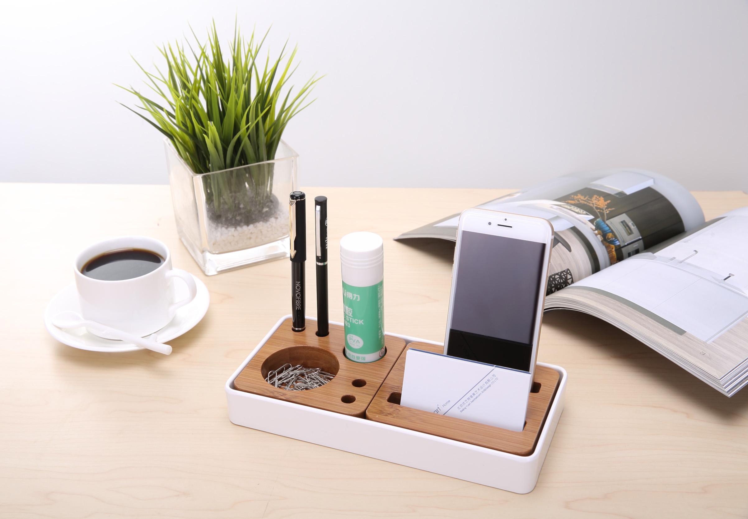办公桌面收纳盒 创意设计图片